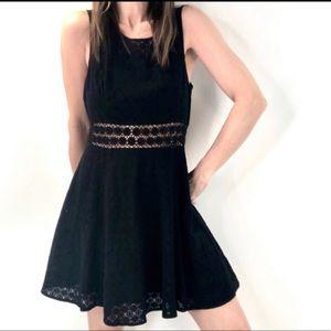 Free People Daisy Crochet lace fit flare dress